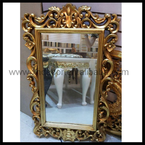 Neoclassic Style Carved Rectangular Wall Mirror With
