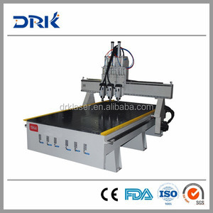 DRK1218 funiture making 3.0KW spindle double head wood working machine