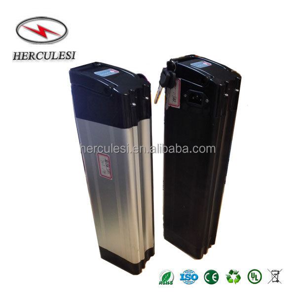 Silver Fish Ebike Battery 48V 12AH Lithium Battery Pack 48V 15AH / 18AH Li Ion Batteries For Electric Scooter