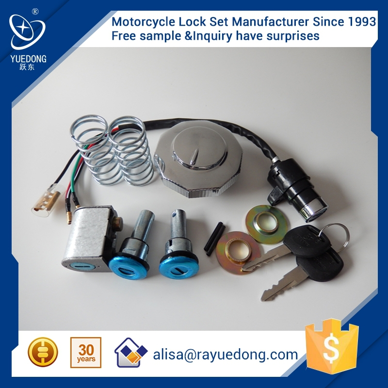 High Quality CD70 5kit motorcycle lock set ignition switch fuel tank cap for honda dio parts motorcycle parts
