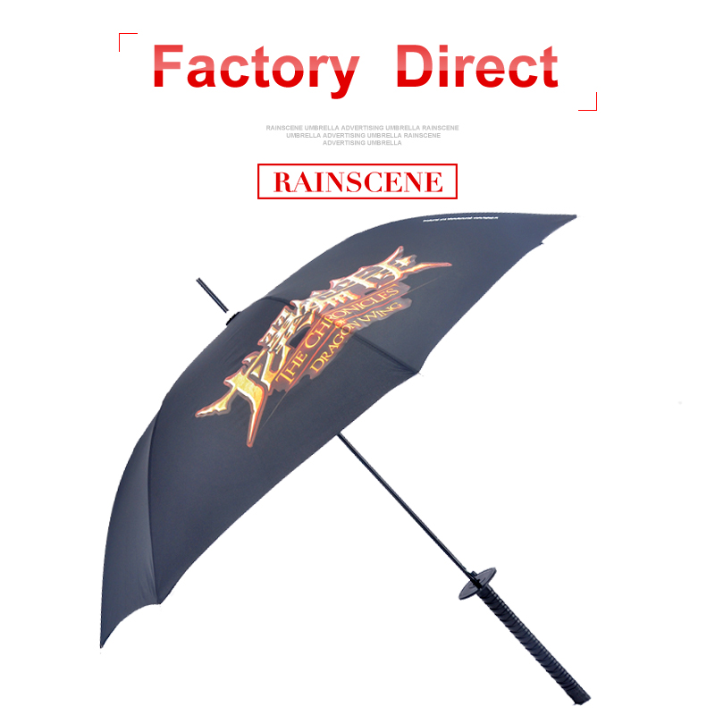 advertising fashion new inventation samurai sword umbrella