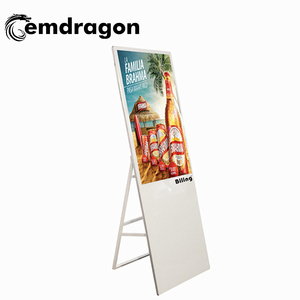 Popular Slim portable 43 inch digital signage solutions advertising digital signage android kiosk