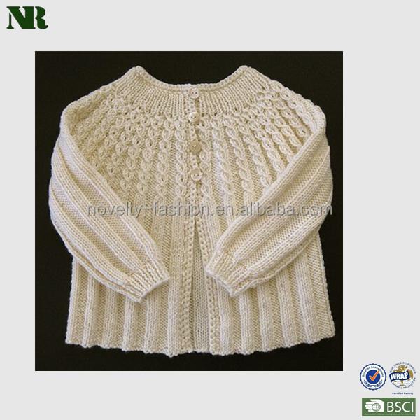 e08a4e55c582 Baby Long Sleeve Cable Crochet Cardigan Sweater - Buy Girls Crochet ...