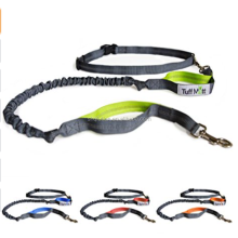 Hands Free Lightweight Reflective Adjustable Nylon Dog Leash No Pull Leash with Retractable Shock Absorbing Bungee