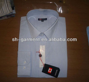 MENS BUSINESS SHIRT , LONG SLEEVE WITH STAND UP COLLAR