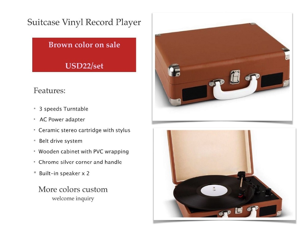 hot sale vinyl suitcase style record player buy vinyl record player suitcase style record. Black Bedroom Furniture Sets. Home Design Ideas