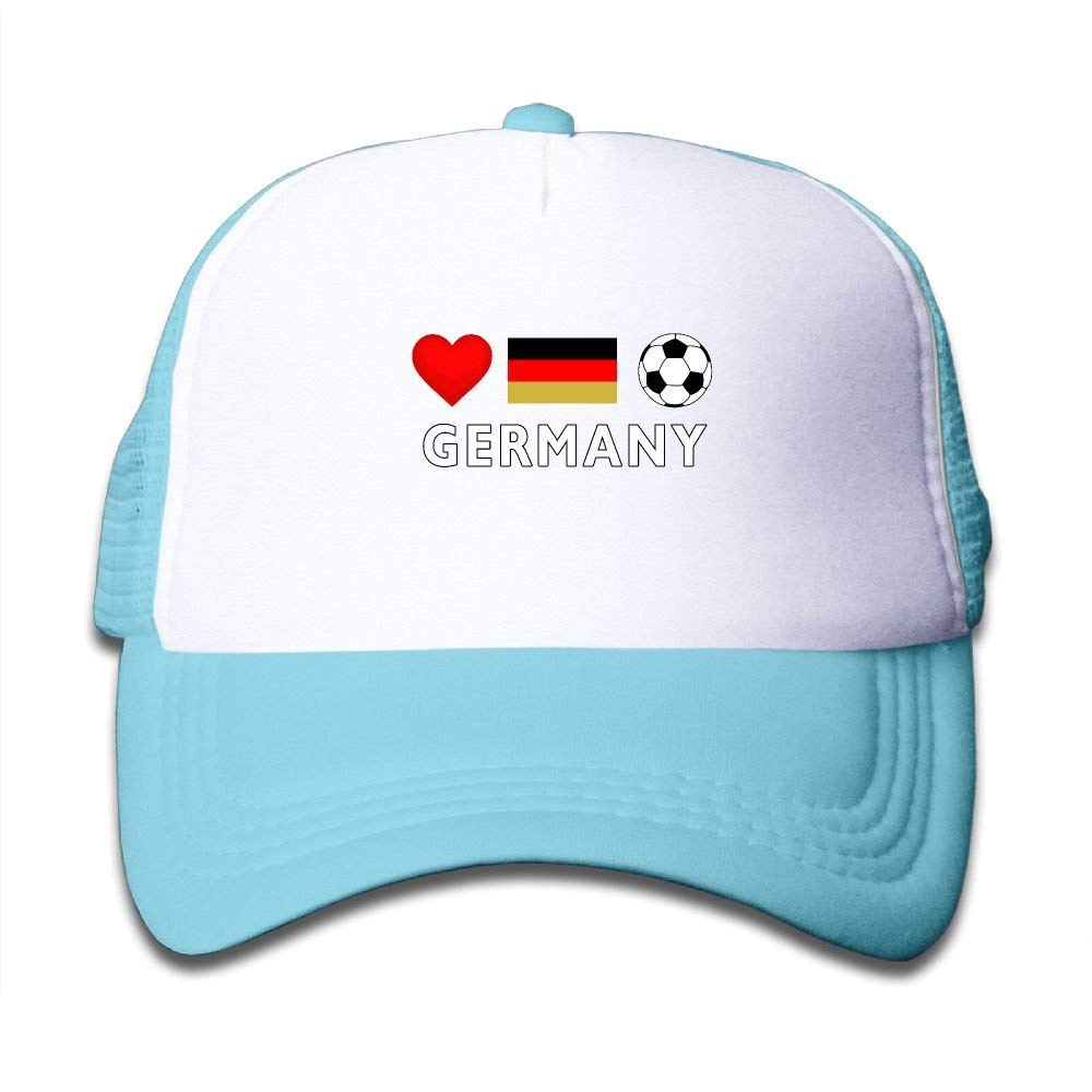 4b71268e8 Get Quotations · Clarissa Bertha Germany Football German Soccer Kids Boys   Girls  Baseball Caps Mesh Hats