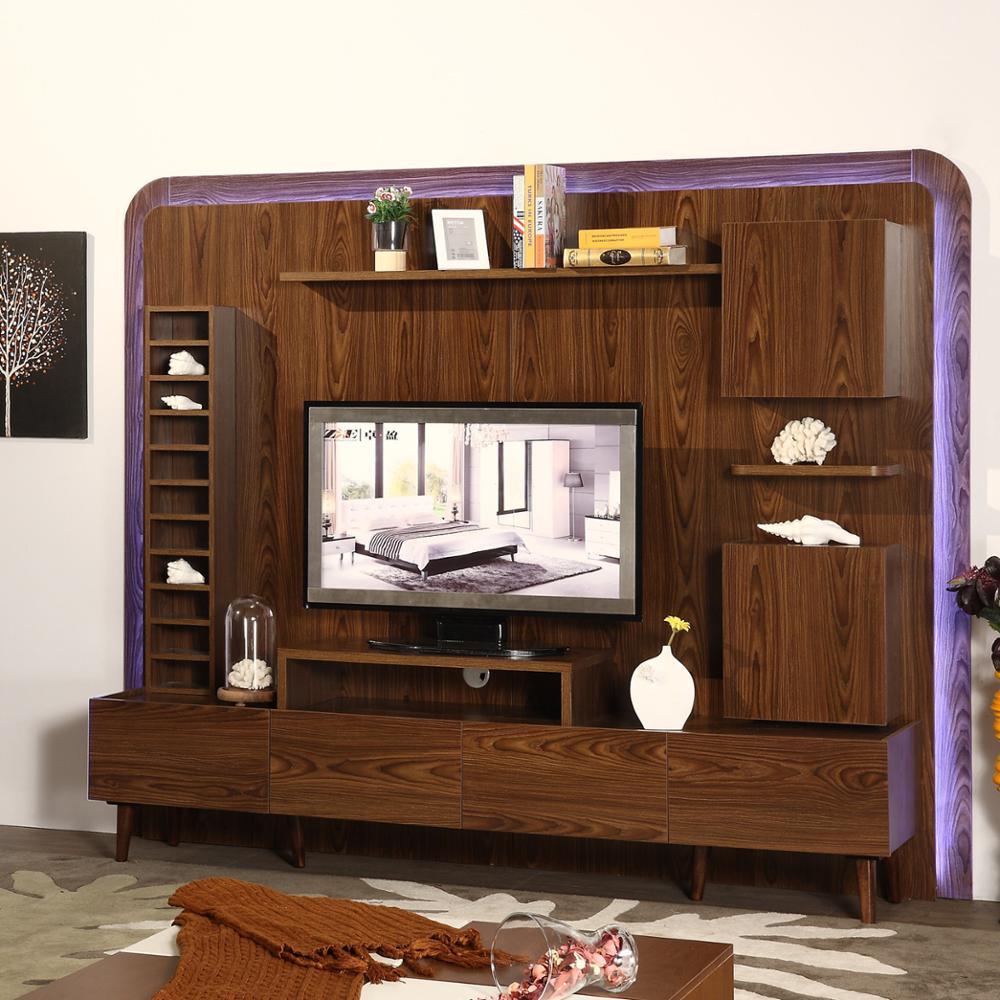 rumah furniture meuble desain tv/wall unit lemari/led tv wall unit desain -  buy meuble desain tv led tv wall unit desain unit dinding ruang tamu
