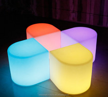 Modern Outdoor mini party light chair nightclub bar color change LED stool