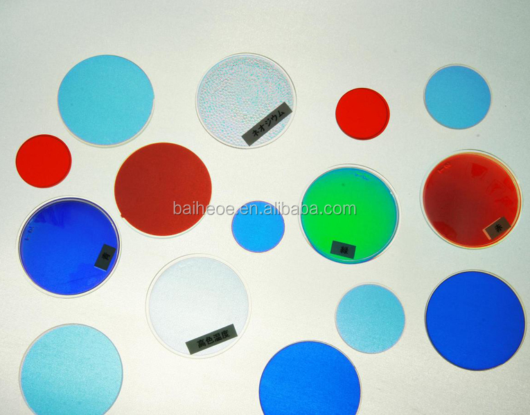 Optical colored glass filters green filter