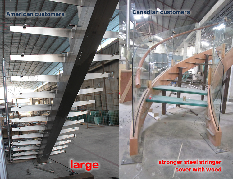 Aluminum Stair Stringer/metal Stairs Railing For Sale