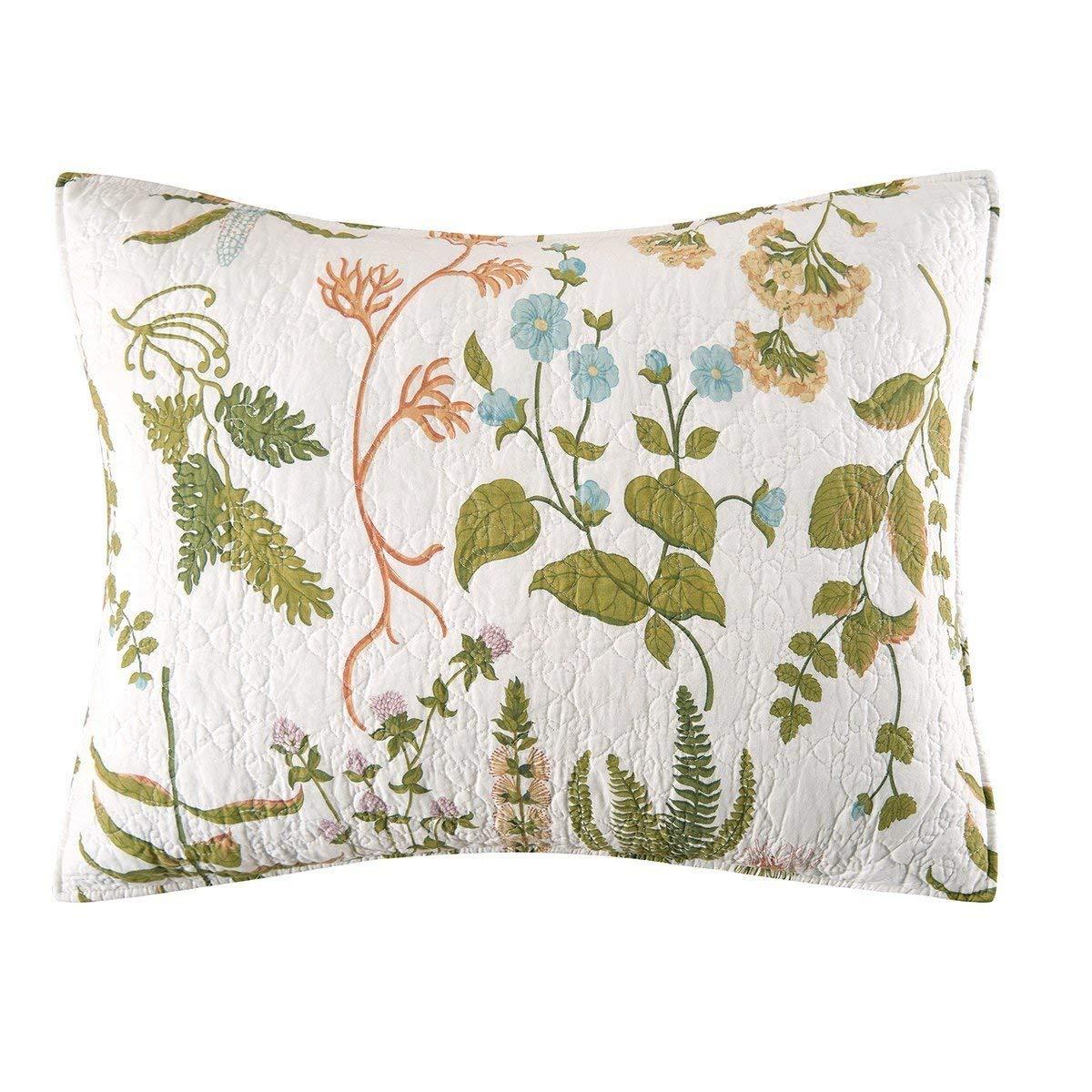 Margherita Missoni Allover Floral Standard Sham: Buy Magnolia Garden Floral Ruffle Pillow Sham Blue Sham In