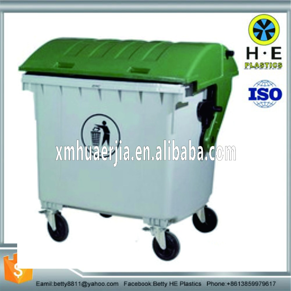 Trash can bins plastics material injection steel molding service Molding Custom Plastic Silicone Rubber Garbage Bin