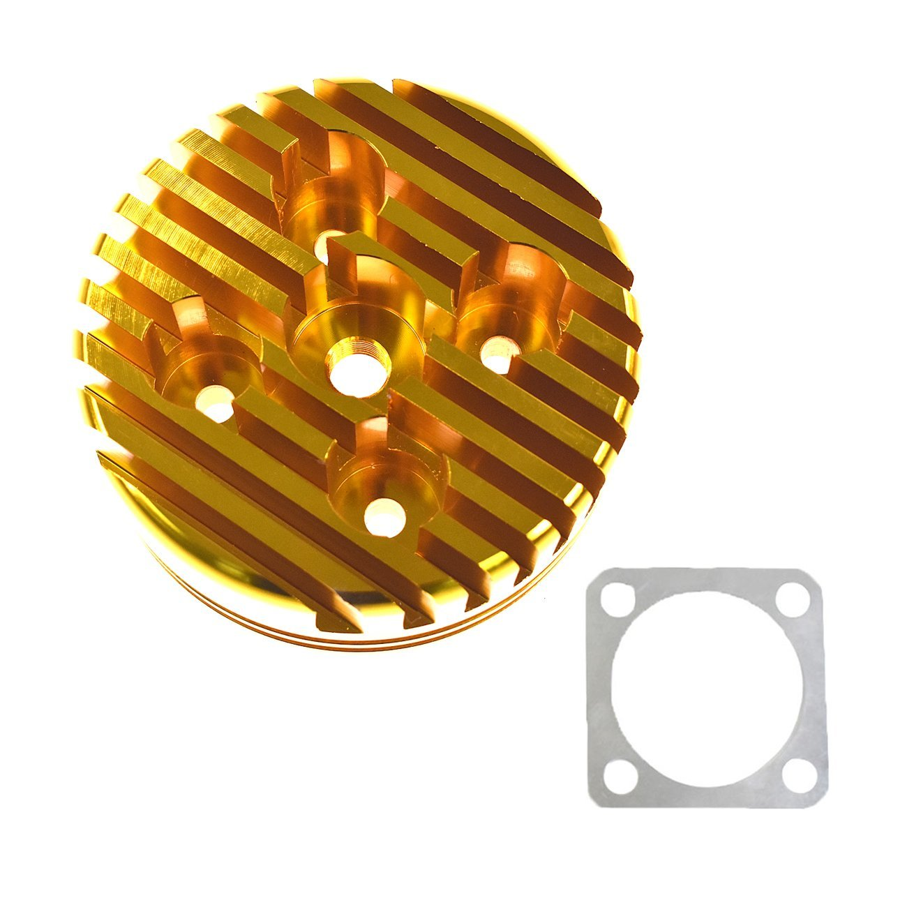 JRL Yellow CNC Cylinder Head For Racing 66cc/80cc Engine Gas Motorized Bicycle