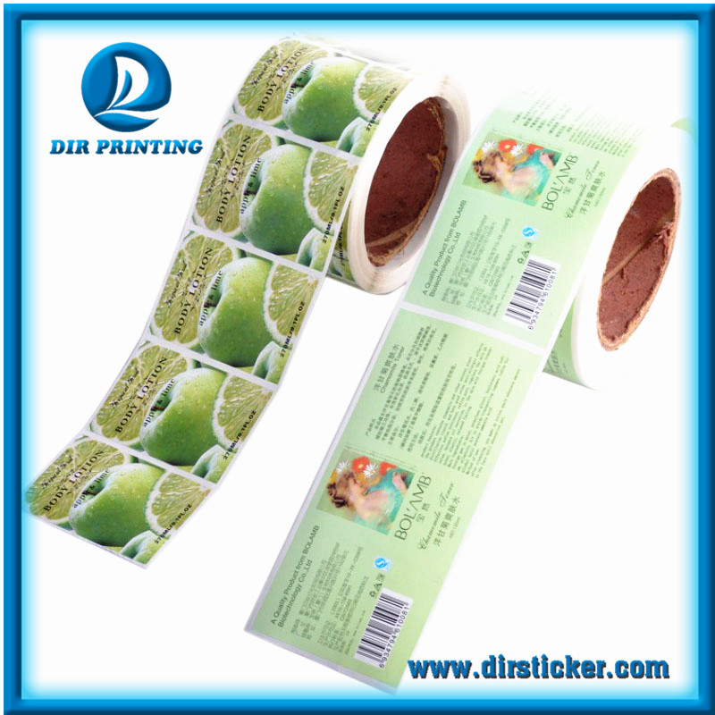 Full Color Custom Design Roll Die Cut Adhesive Sticker Label By Roll