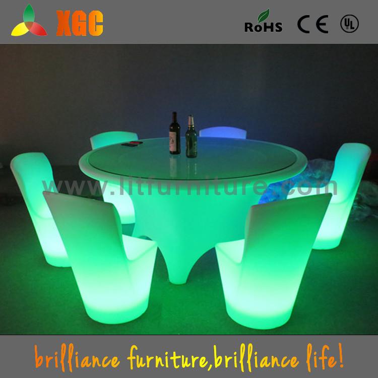 Acrilico Luminoso Plastica Sedie E Tavoli Per Bar Usato,Fondo In ...