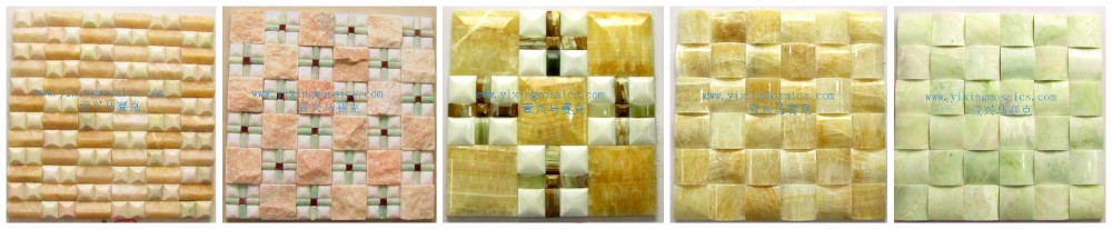 Arch Shape Natural Green Color Jade Stone Mosaic Tile For Hotel,Hall ...
