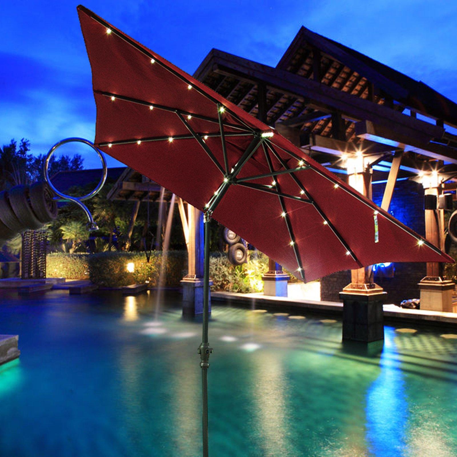 powered walmart com trademark x ip lighted rectangular solar lighting innovations lights umbrella patio led by tan