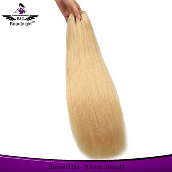 613 platinum sew in extensions human hair weave blonde brazilian hair weft