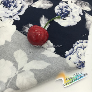 Custom floral printed combed 100% Cotton woven fabric with digital print for t shirt/ bed sheets