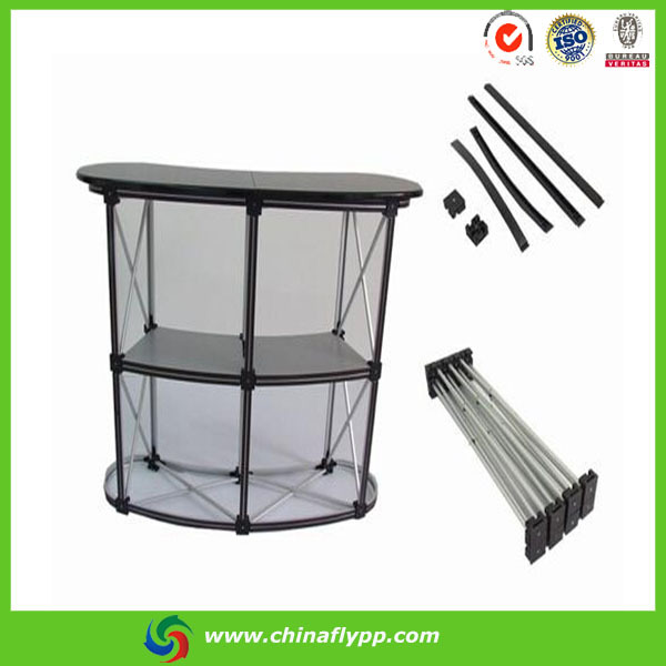 Fly Portable Shop Aluminum Folding Promotion Counter Table For ...
