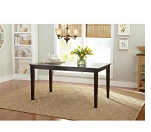 Better Homes and Gardens Bankston 6-Seater Wooden Dining Table, Mocha