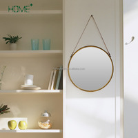 Classic art decor metal wall mount movable mirror