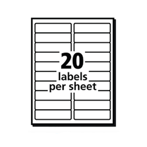 "4 x 1"" 20up fast return mailing shipping print address shipping labels"