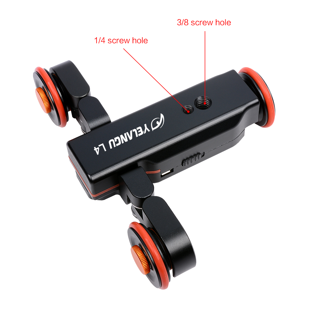 YELANGU Universal Track Skater Table Mini Camera Dolly For Cameras And Camcorders