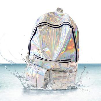 Plata De Holográfica Las Holográfica Láser Holográfico Mujeres Impresión mujer Mochila Buy Holograma Bolsa bolsa YbgvIy7mf6