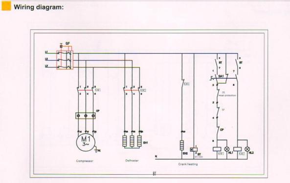 220v Cold Room Temperature Electric Power Control Box Ecb