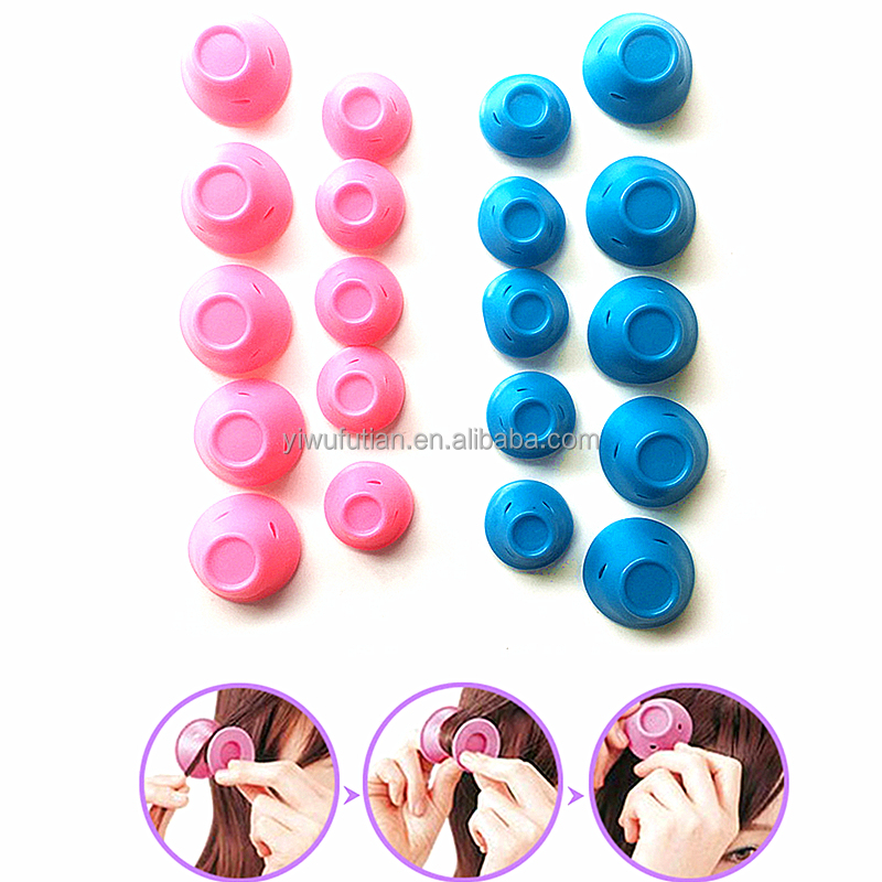 Factory Direct Sales 10 pcs Silicone Small and Flexible Hair Curler Roller DIY Magic Peco Roll