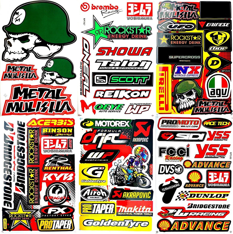 Buy motocross motorcycles dirt bikes skateboard lot 6 vinyl