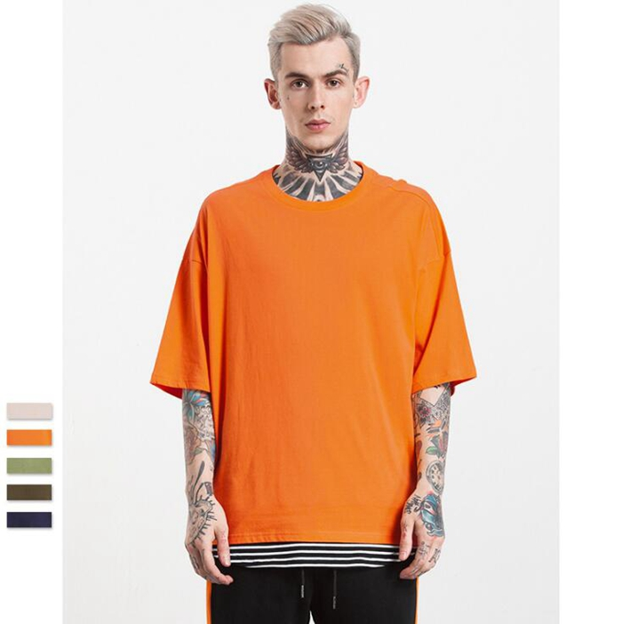 AL065 Oversized tshirt street wear clothing for men in stock /oem