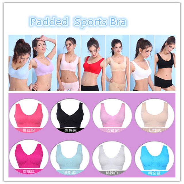 eb935ed101d7b Wholesale Women Yoga Sports Ahh Bra with Pads