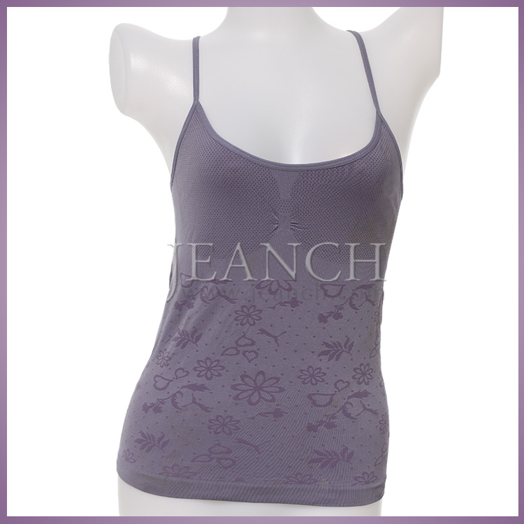 2015 Summer Hot Sale Newest Fashion Seamless Knitted Women Hand Embroidered Adjustable Straps Tank Tops Camisole
