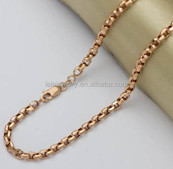 953e32e7b Stainless steel custom gold chain necklace, various wheat chain necklace