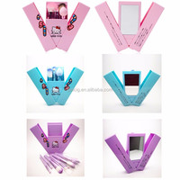 alibaba new products hello Kitty makeup brushes with mirror from Rulien makeup brush manufacturer and wholesaler