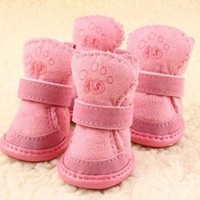 Wholesale warm winter pet dog protect shoes for chihuahua