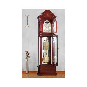 Antique Solid Wood Grandfather Clock With German Mechanical Movement Floor  clocks Chimes