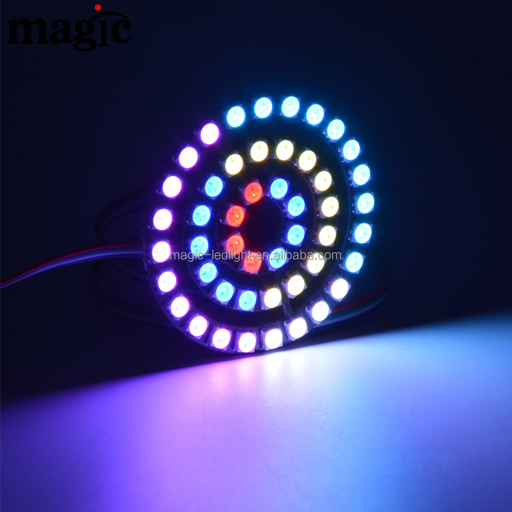 One LED Die the rest keep working,Each LED Addressable RGB halos pixel WS2813 ring