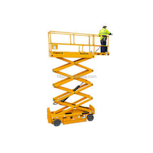 Narrow boom air scissor parking lift
