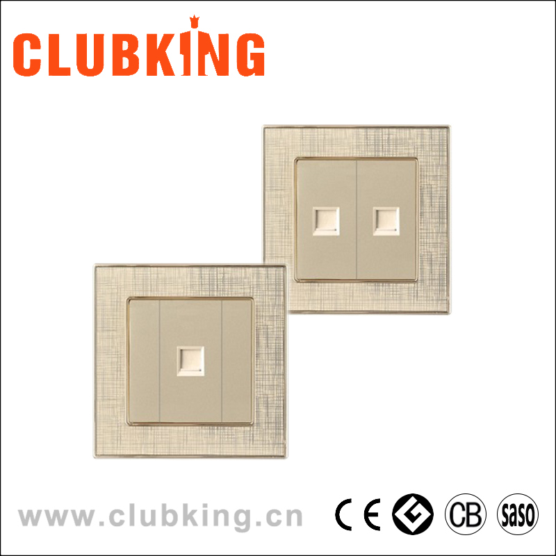C9 CLUBKING brand double network socket data outlet one gang computer socket for 8 lines