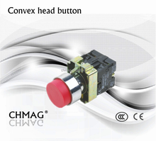 22mm Convex Head Button choice button switch ON-OFF 660V 10A Switch