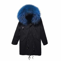 Winter Women&Men Faux Fur Coat Warm Hood Parka Ladies Long Trench Jacket Outwear fashion winter coats