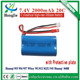 7.4V 2000mAh lithium battery for huanqi 955 956 957 848B MJX F45 RC helicopter Wltoy WL912 RC car 18650 20C