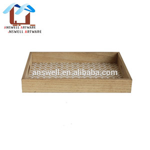 Wholesale Wood Fast Food Tray Set Wooden Breakfast Tray Wholesale
