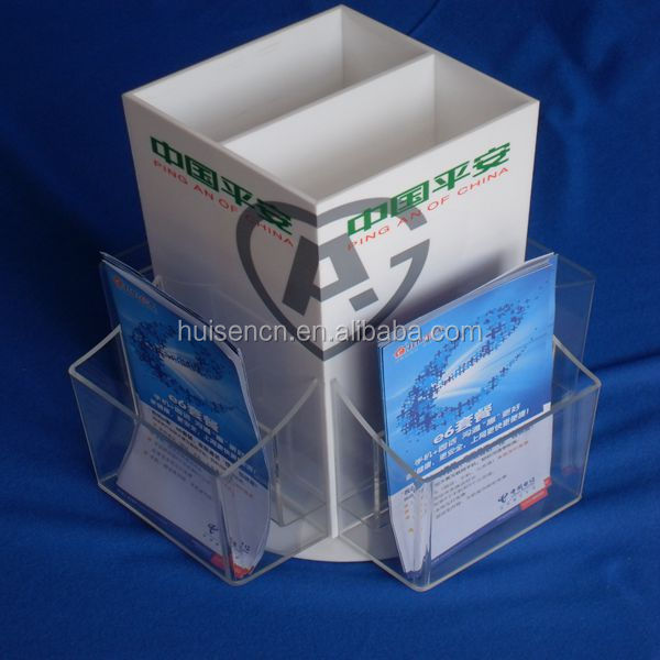 Rotating Desk Organizer,File Holder Acrylic,Portable Book Stand ...
