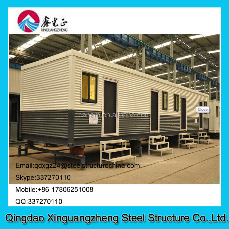 Pre-made container house with stairs used for economic hotel