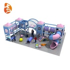 Factory hot sale custom 50m*m areas mini/middle/large kids playground sets, macarons theme mobile indoor playgrounds